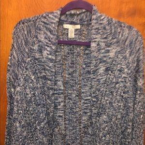 Ralsey Blue Marled Open Front Knit Cardigan XS